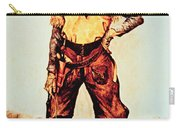 Texas Cowboy Carry-all Pouch by Frederic Remington