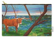 Texas Cow's Blulebonnet Field Carry-all Pouch