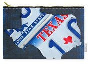 Texas License Plate Map Carry-all Pouch