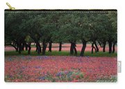 Texas Live Oaks Surrounded By A Field Of Indian Paintbrush And Bluebonnets Carry-all Pouch