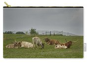 Texas Longhorns And Wildflowers Carry-all Pouch