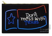 Texas Neon Sign Carry-all Pouch