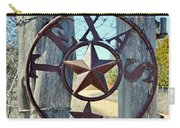 Texas Star Rustic Iron Sign Carry-all Pouch