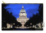 Texas State Capitol Floodlit At Night, Austin, Texas - Stock Image Carry-all Pouch