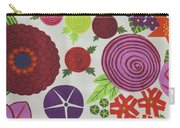 Texture Of Colored Fabric Carry-all Pouch