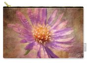 Textured Aster Carry-all Pouch by Lois Bryan