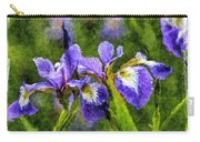 Textured Bearded Irises Carry-all Pouch