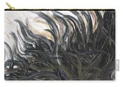 Textured Black Sunflower Carry-all Pouch