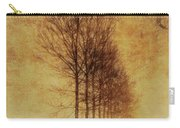 Textured Eerie Trees Carry-all Pouch