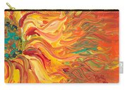 Textured Fire Sunflower Carry-all Pouch