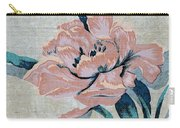 Textured Floral No.2 Carry-all Pouch by Writermore Arts