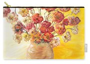 Textured Flowers In A Vase Carry-all Pouch