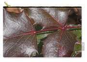 Textured Leaves Carry-all Pouch