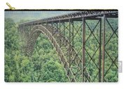 Textured New River Gorge Bridge Carry-all Pouch