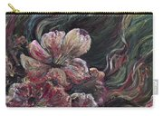 Textured Pink Petals Carry-all Pouch