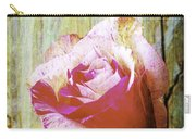 Textured Pink Red Rose Carry-all Pouch