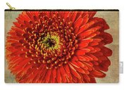 Textured Red Daisy Carry-all Pouch