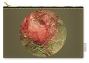 Textured Rose Art Carry-all Pouch
