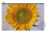Textured Sunflower Carry-all Pouch
