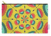 Textured Tropical Mandala Carry-all Pouch