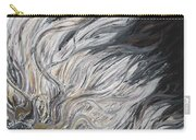 Textured White Sunflower Carry-all Pouch