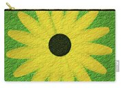 Textured Yellow Daisy Carry-all Pouch