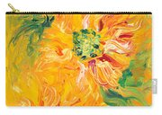 Textured Yellow Sunflowers Carry-all Pouch