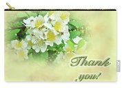 Thank You Card - Multiflora Roses Carry-all Pouch