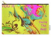 Thank You Card Abstract Lilac Breasted Roller Carry-all Pouch