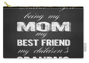 Thank You Mom Chalkboard Typography Carry-all Pouch