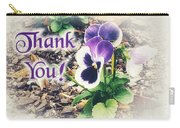 Thank You Pansy Carry-all Pouch