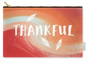 Thankful- Art By Linda Woods Carry-all Pouch