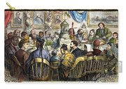 Thanksgiving Cartoon, 1869 Carry-all Pouch