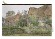 Thatched Cottages And Cottage Gardens Carry-all Pouch by John Fulleylove
