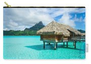 Thatched Roof Honeymoon Bungalow On Bora Bora Carry-all Pouch