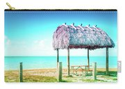 Thatched Roof Hut On Beach Carry-all Pouch