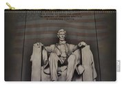 The Abraham Lincoln Memorial Carry-all Pouch