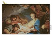 The Adoration Of The Shepherds Carry-all Pouch by Charle van Loo