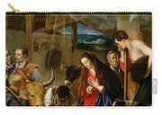 The Adoration Of The Shepherds Carry-all Pouch by Fray Juan Batista Maino or Mayno