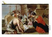 The Adoration Of The Shepherds Carry-all Pouch by Louis Le Nain
