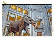 The African Bush Elephant In The Rotunda Of The National Museum Of Natural History Carry-all Pouch