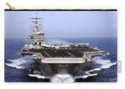 The Aircraft Carrier Uss Dwight D Carry-all Pouch by Stocktrek Images