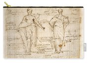 The Allegorical Figures Of Reason And Wisdom  Carry-all Pouch