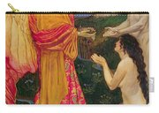 The Angel Offering The Fruits Of The Garden Of Eden To Adam And Eve Carry-all Pouch