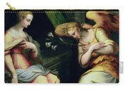 The Annunciation Carry-all Pouch by Giorgio Vasari