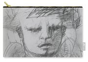 The Archangel Michael By Alice Iordache Original Drawing Carry-all Pouch