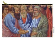 The Arrival Of The Apostles To The Virgin Fragment 1311 Carry-all Pouch