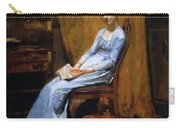 The Artist Wife And His Setter Dog 1889 Carry-all Pouch