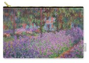 The Artists Garden At Giverny Carry-all Pouch by Claude Monet