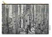The Aspen Forest In Black And White  Carry-all Pouch